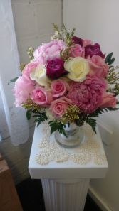 Peonies, Roses, and Waxflower..Oh My!