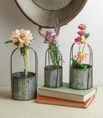 Round Metal Planter Baskets