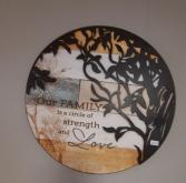 Round Metal Wall art Giftware
