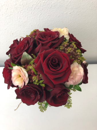 Round Rose Bouquet Wedding Bouquet