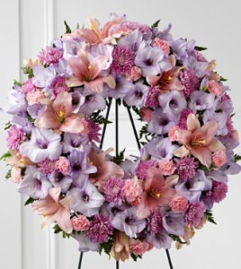Round Wreath Mauve And Pinks Flowers In Kitchener On Kitchener