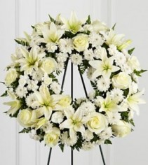 Wreath  standing spray  All white
