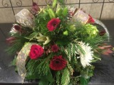 Wonders of Winter  Round winter centerpieces with gold trim