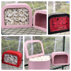 Rounded One sided Flower box Lovely box in Dearborn, MI | LAMA'S FLORIST