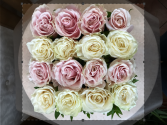 Row of Roses  Boxed Floral Arrangement