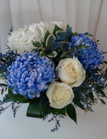 Royal Blue and White  Table Centerpiece