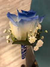 Royal Blue Elegant  Boutonnière