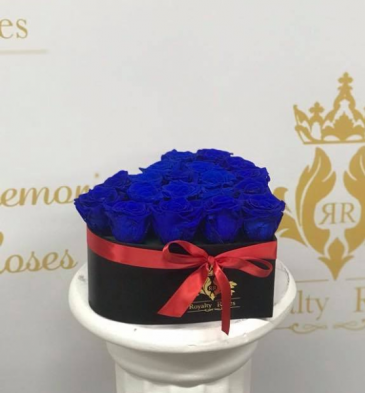 Royal Blue Heart Heart shaped box