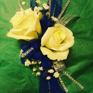 Royal Blue Ribbon  Corsage in Winston Salem, NC | RAE'S NORTH POINT FLORIST INC.