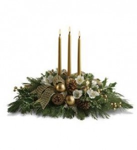 Royal Christmas Centerpiece by Enchanted Florist of Cape Coral