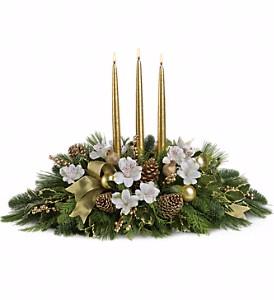 C*  Royal Christmas centerpiece