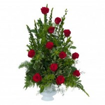 Royal Dozen Rose Urn  Arrangement