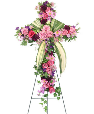 Royal Farewell Standing Spray in Berkley, MI | DYNASTY FLOWERS & GIFTS