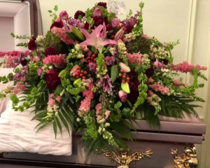 Royal Gardens Casket Spray in Universal City, TX | Karen's House Of Flowers & Custom Creations