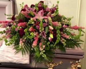 Royal Gardens Casket Spray in Universal City, TX   Karen's House Of Flowers & Custom Creations