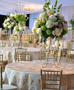 Royal Hydrangeas Table Arrangement in Forest Hills, NY   FOREST HILLS LILIES OF THE VALLEY