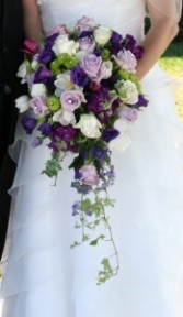 Royal Purple Cascade Wedding