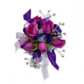 Royal Purple Wrist Corsage