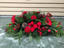 Royal Red Christmas Centerpiece