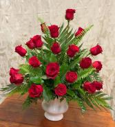 Rosey Red Funeral Flowers