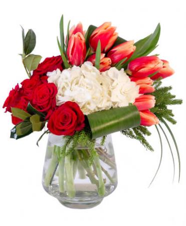 Royal Red & White Arrangement