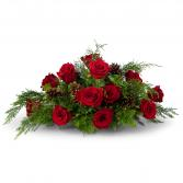 Royal Rose Christmas Centerpiece