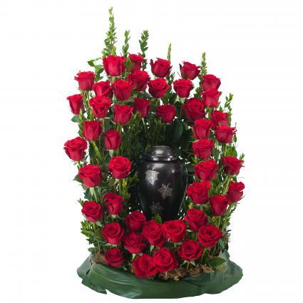 Royal Rose Surround Memorial Arrangement