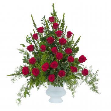 Royal Rose Urn Memorial Arrangement