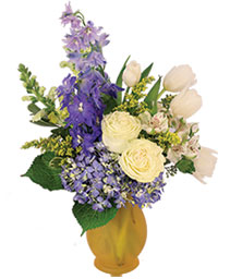 Royally Blue Flower Arrangement
