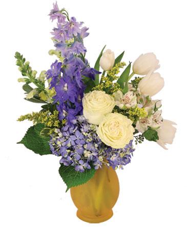Royally Blue Flower Arrangement