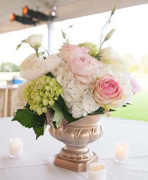 Royally Golden Centerpiece in Stonewall, MB | STONEWALL FLORIST