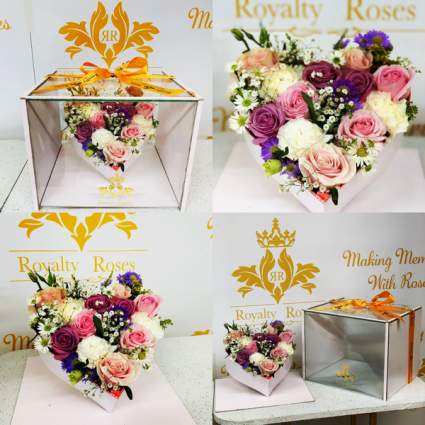 Royalty Crystal Box with removable heart Royalty Crystal Box