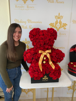 Royalty Teddy Bear  Teddy bear fresh premium roses  in Harlingen, TX | Royalty Roses