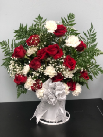 Ruby and Diamonds  Sympathy Basket