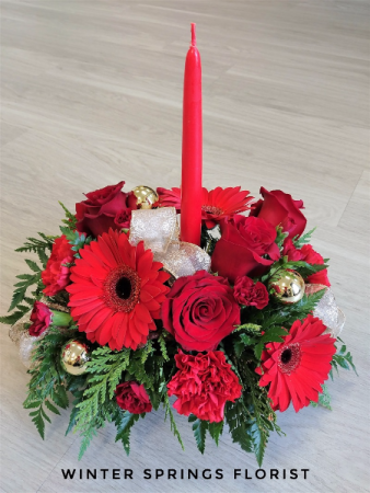 Ruby Cheer  Holiday Centerpiece