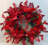 Ruby Jewel Artificial Wreath