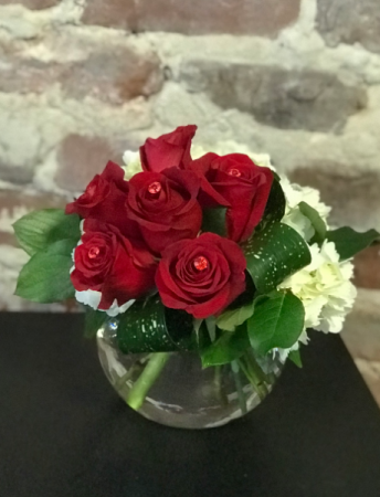 Ruby Red Bouquet Vased Arrangement