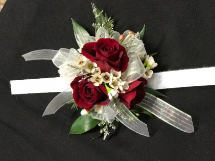 ruby red corsage corsage
