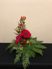 Ruby Red Holiday Modern Holiday Arrangement