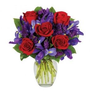 Ruby Romance Floral Arrangement