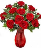 Dozen Ruby Roses