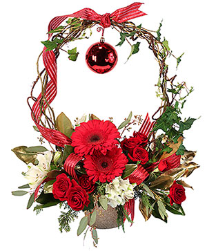 Rudolph's Nose Holiday Flowers in Ellisville, MO | West County Florist