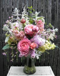 Ruffled Romance  Lush Floral Arrangement