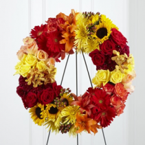 Rural Beauty Wreath Funeral Flowers