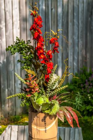 Rustic Autumn Silk High Style Arrangement