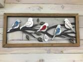 Rustic Bird Frame