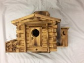 Rustic Birdhouse with Outhouse Wood Craft
