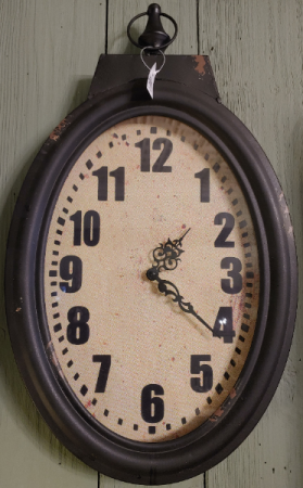 Rustic Black Hanging Clock