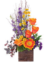 Rustic Blossoms Floral Arrangement in Visalia, California | Peter Perkens Flowers