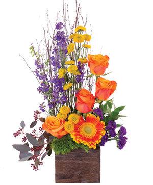 Rustic Blossoms Floral Arrangement in Cochrane, AB | INCREDIBLE FLORIST